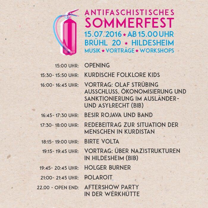 afa sommerfest timetable